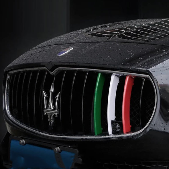 Click-on Masarati Bumper Front Grille Three colors Decor- For Ghibli, Levante and Quattroporte