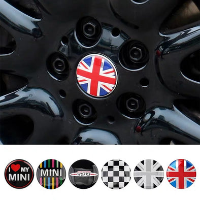 MINI Cooper Countryman Wheel Center Hubs Caps Emblem Overlay r50 r52 r53 r55 r56 r57