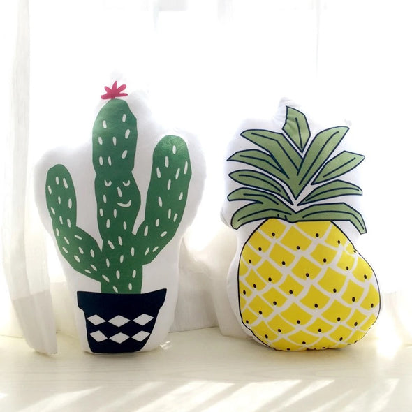 Car Seat Pillow Cushion - Cactus and Pineapple