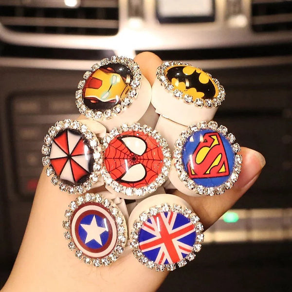 Bling Ring Shape Car Air Vent Bling Decoration with Air Freshener DIY clip