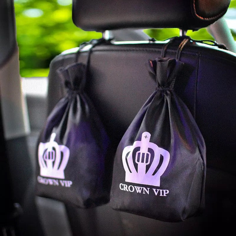 Bling Crown Car Fresher Activated Carbon Bag Seat Back