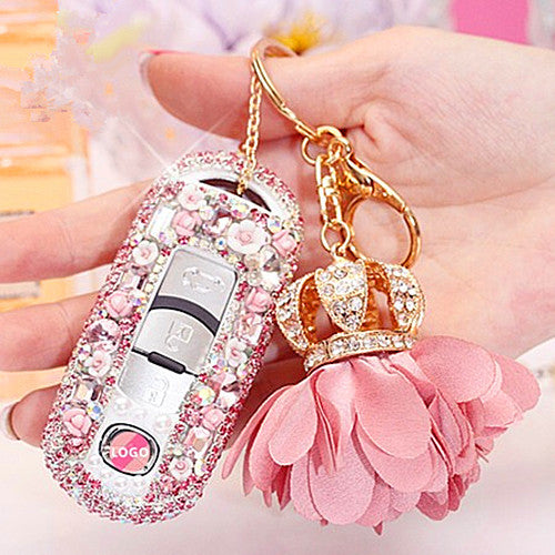 MAZDA Bling Car Key Holder with Rhinestones