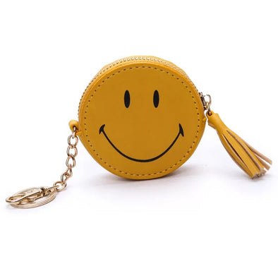 Emoji Car Key Chain Bag Pendant with Smiley Face Coin Purse
