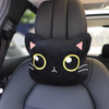Black Cat Meow Seat Belt Cover (2x) or Seat Headrest Cushion Pillow