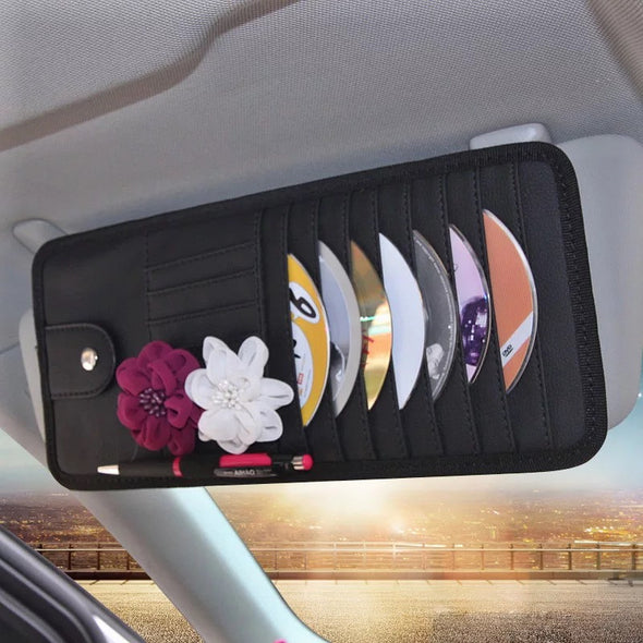 Car Sun Visor CD Organizer with Rosa