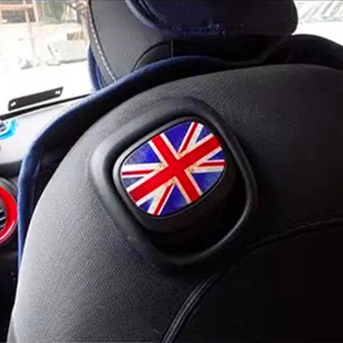 Mini Cooper UK Jack Flag Union Seat Back Handle Sticker F56