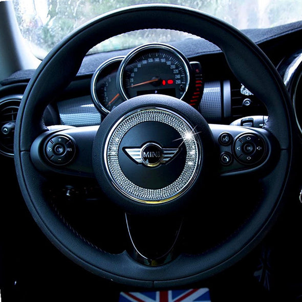 Bling Steering Wheel Sticker for Mini Cooper Countryman Clubman Paceman Coupe Cabrio Roadster F55 F56 R56 R60 R58 R59 R57 F54
