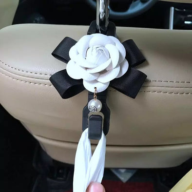Car Seat Hooks for Girls with Camellia