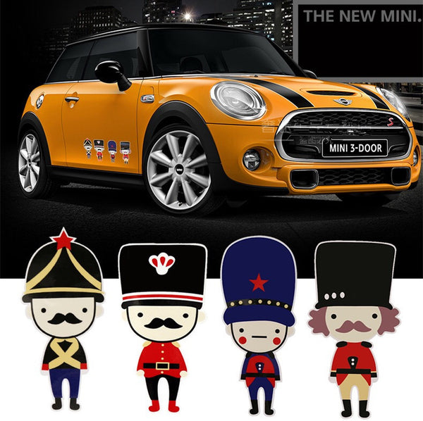Mini Cooper Countryman British Soldiers Sticker Beetles