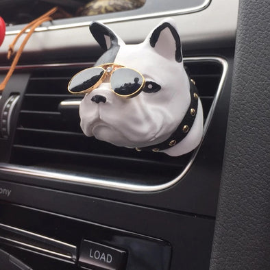 French Bulldog  Frenchie Dog Car Air Vent Bling Decoration with Air Freshener DIY clip Super Cool