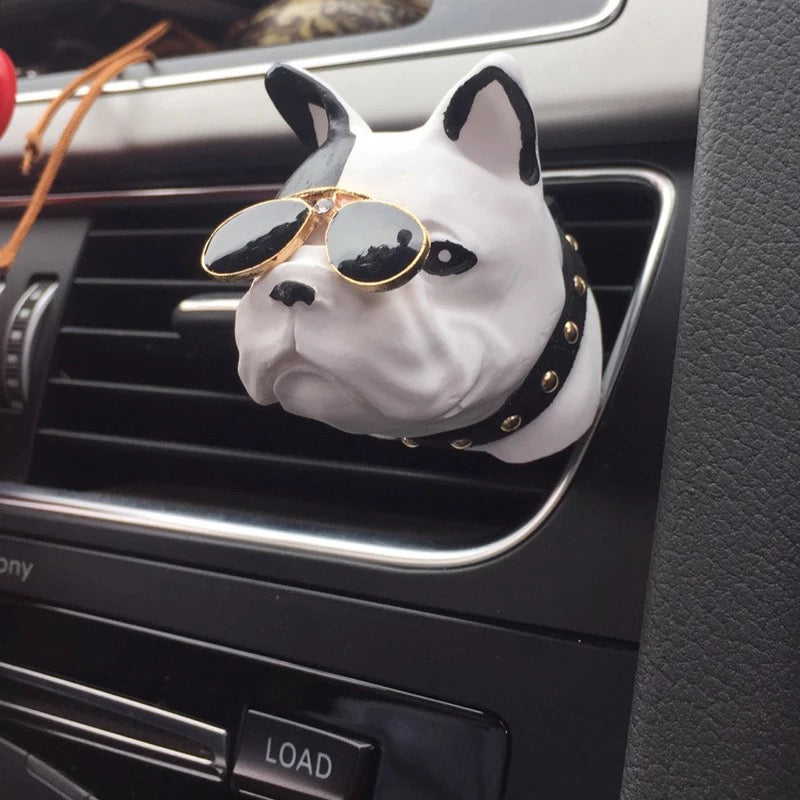 French Bulldog Frenchie Dog Car Air Vent Bling Decoration