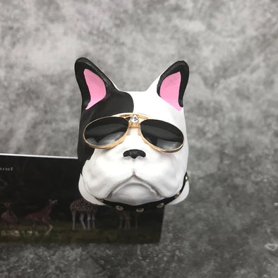 Pink-eared French Bulldog  Frenchie Dog Car Air Vent Bling Decoration with Air Freshener DIY clip Super Cool