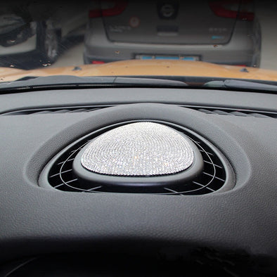 Bling Mini Cooper Dashboard Vent Decoration Rhinestones Sticker Decal