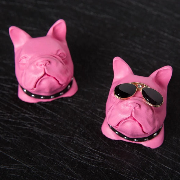Hot Pink French Bulldog  Frenchie Dog Car Air Vent Bling Decoration with Air Freshener DIY clip Super Cool