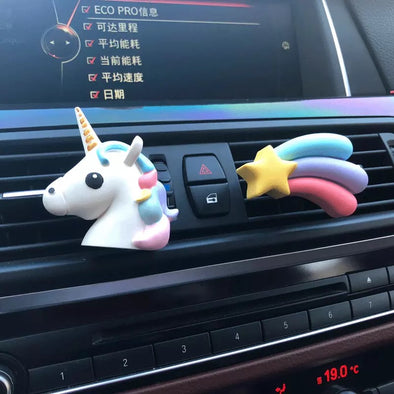 Unicorn and Rainbow Car Air Vent Cute Decoration with Freshener