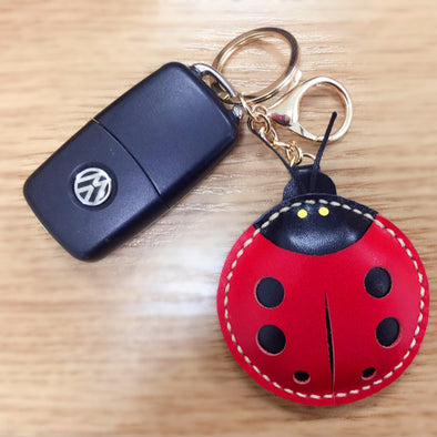 VW Beetles Ladybug Keychain leather charm pendant Ornament
