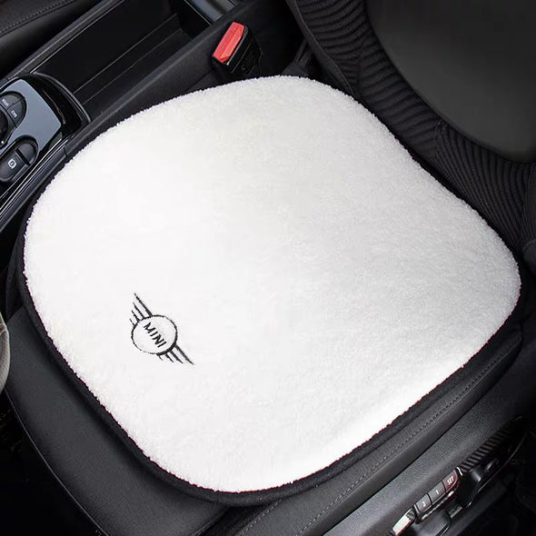 White Sherpa Wool Car Seat Cover Cushion Pad for Mini Cooper Countryman Clubman