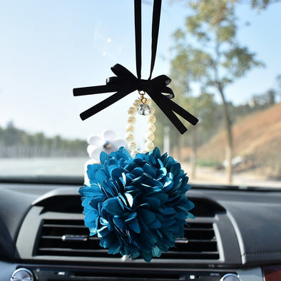 Cute Car Charm - Blossoming Flower for Rearview Mirror Pendant