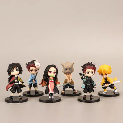 Demon Slayer Anime Car Dashboard Decoration - set of 6