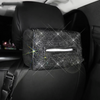 Black bedazzled Bling Car Accessories -Neck Pillow Visor Organizor Center console Seat belt Gear shift braker cover Steering Wheel cover