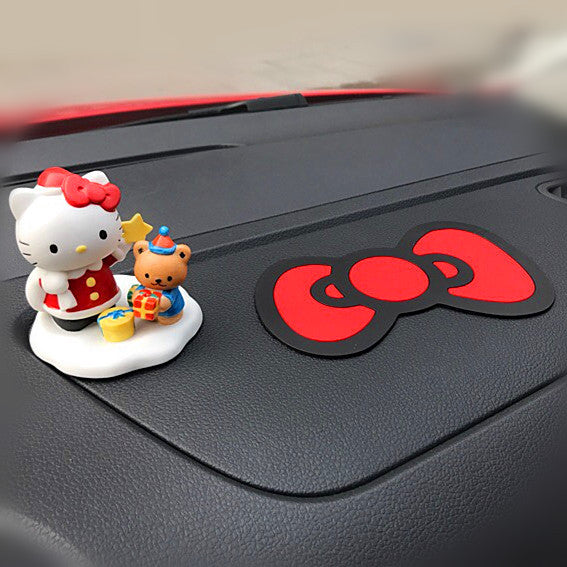 Hello Kitty Bow Car Dashboard Anti-slippery Pad Cell Phone Perfume Holder