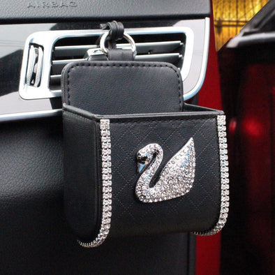 Cell Phone Holder for Car with Bling Swan