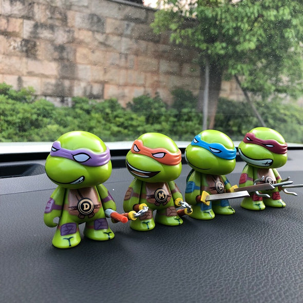 Ninja Turtle Car Dashboard Decoration - set of 4
