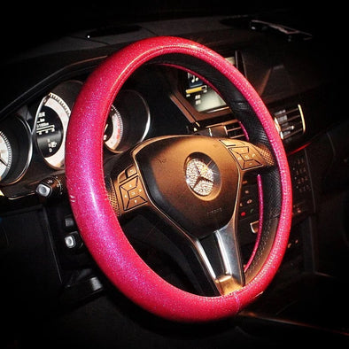 Bling Steering wheel cover Pink, Purple, White, Blue, Golden