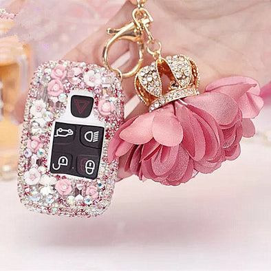 Range Rover Land Rover Jaguar XF Discovery Bling Car Key Holder - Pink