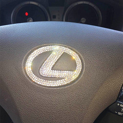 Lexus Bling Steering Wheel LOGO Sticker Decal Emblem