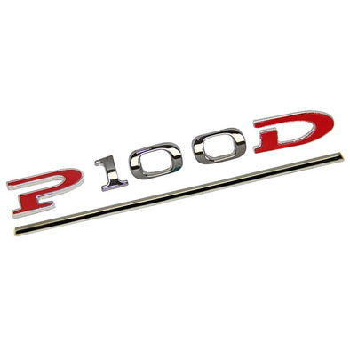 Tesla P 100 D 3D Logo Emblem Badge Sticker Chrome Letters