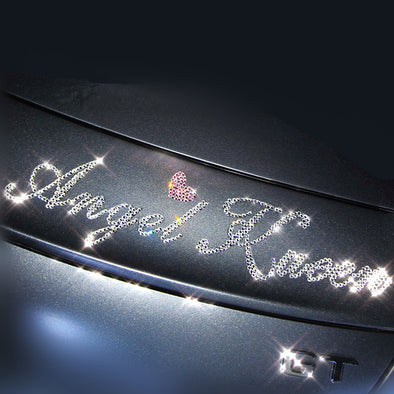 Personalized Bling Letter Decal DIY Sticker - Customized Sparkling Car Decor.