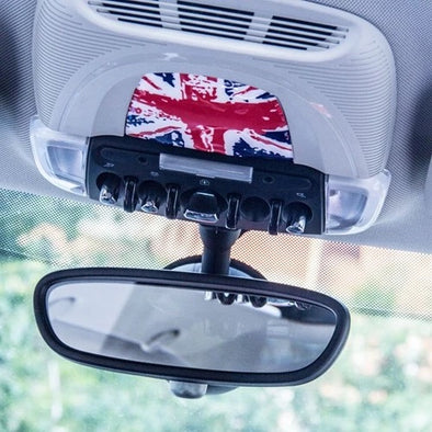MINI cooper Interior Light Panel 3D PU sticker Union Jack Checker F55 F56 F54