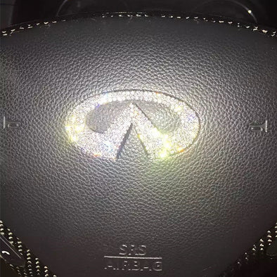 Infiniti Bling Emblem for Steering Wheel LOGO Sticker Decal