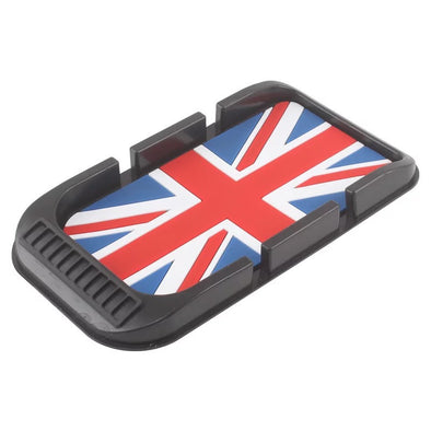 Car Dashboard Anti-slip Mat Mobile Phone Holder for Mini Cooper -Jack Union Racing Check