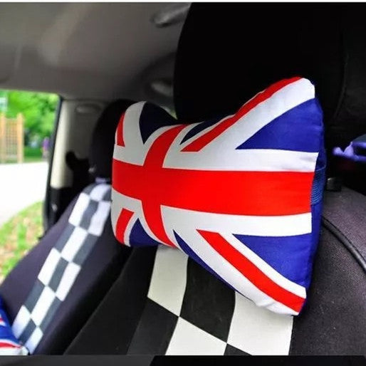 UK Jack Union  Bone Shaped Car Headrest Pillow