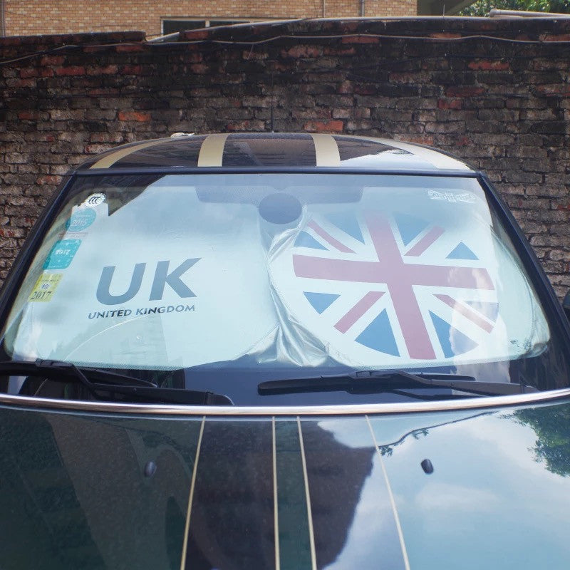 Mini Cooper/Countryman Windshield UV Sunshade UK Union Jack Flag LOGO