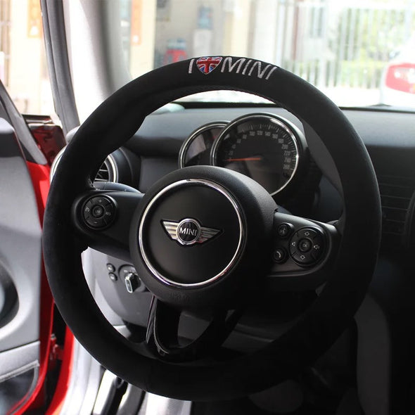 Mini Cooper Countryman Clubman Steering wheel cover - I love MINI
