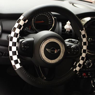 Checkers Steering wheel cover - Great for Mini cooper Countryman