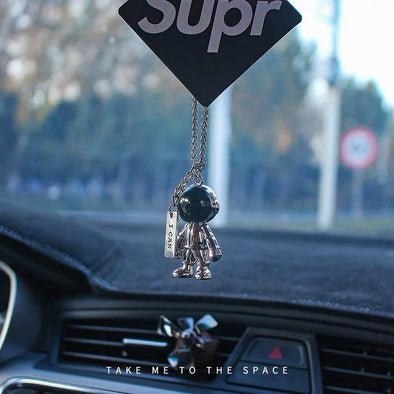 Astronaut NASA Space Car Mirror Hanging Pendant Charm with Air Refreshener