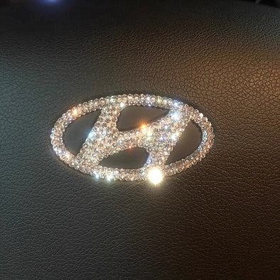 Hyundai Bling Steering Wheel LOGO Sticker Decal