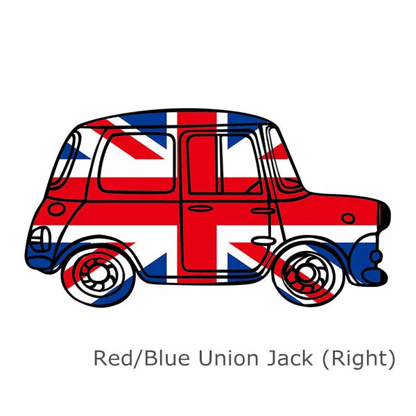 Mini Cooper Countryman Vintage Car UK Jack Union Rainbow Sticker - Carsoda - 2