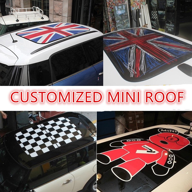 mini cooper union jack roof sticker decal countryman. Black Bedroom Furniture Sets. Home Design Ideas