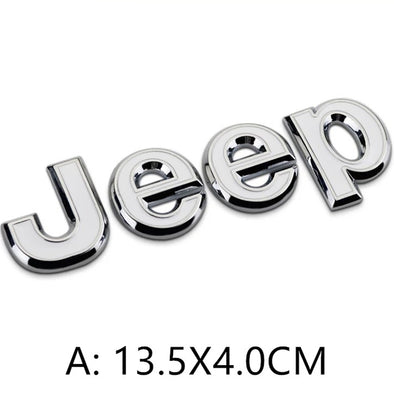 Jeep Metal Chrome Logo Emblem Badge Symbol Decoration