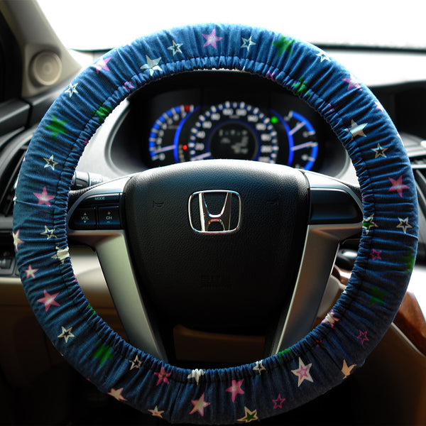 Navy and stars Steering wheel cover - Carsoda