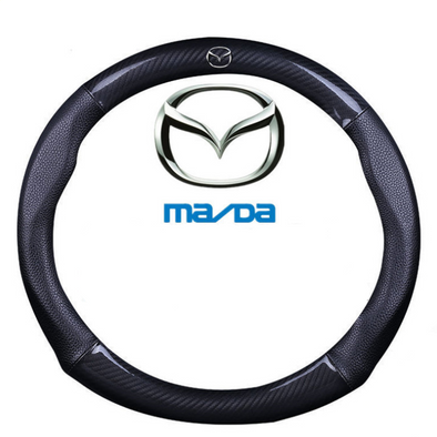 Carbon Fiber and Leather Steering wheel cover for Mazda