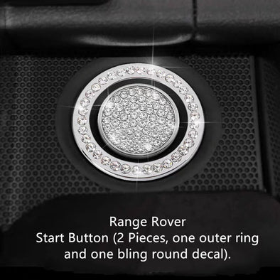 Range Rover Bling 3d Rhinestones Interior Acessories Decoration Decal Stickers