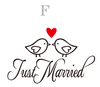 Just Married Car Decal - Wedding Personalized Names and Dates Monogrammed - Carsoda - 7