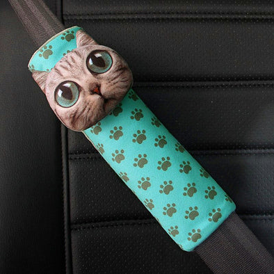 3D Cat Meow Seat Belt Cover - Carsoda - 1