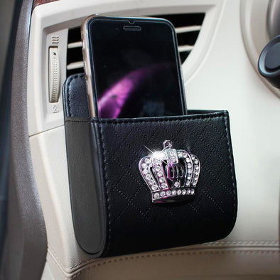 Bling Crown Car Accessory-Air Vent Mounted Sunglasses cell phone holder - Carsoda - 1